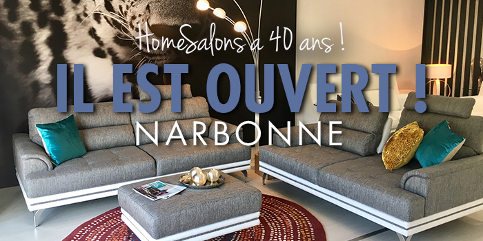 homesalons a inaugur sont 41 me magasin narbonne. Black Bedroom Furniture Sets. Home Design Ideas