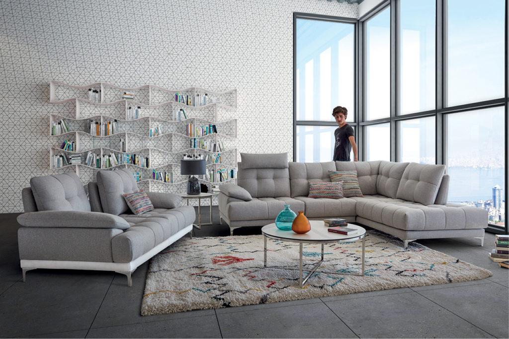 Canapé en tissu dossiers double profondeur Renoir