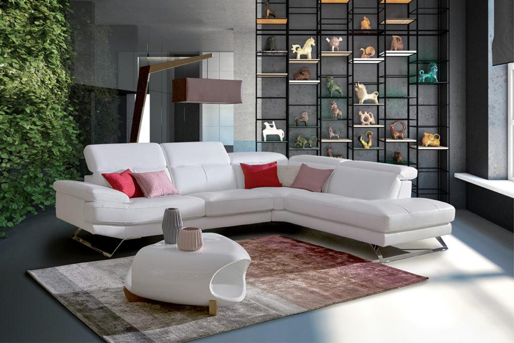 Canapé d\'angle : 5 modèles pour un salon convivial - Homesalons