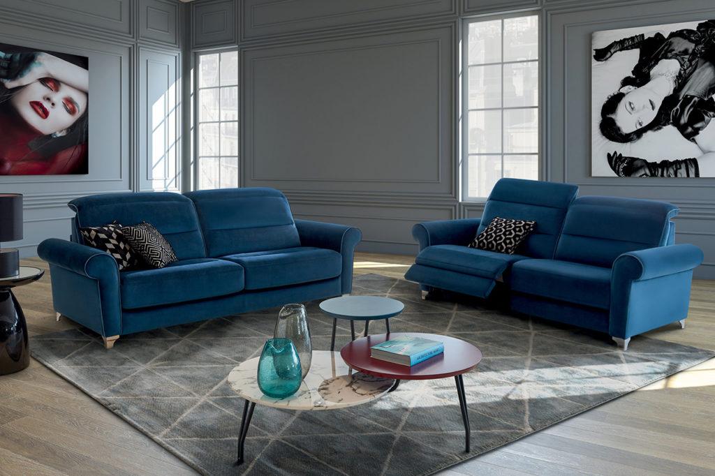 Canapé bleu modèle Klein HomeSalons