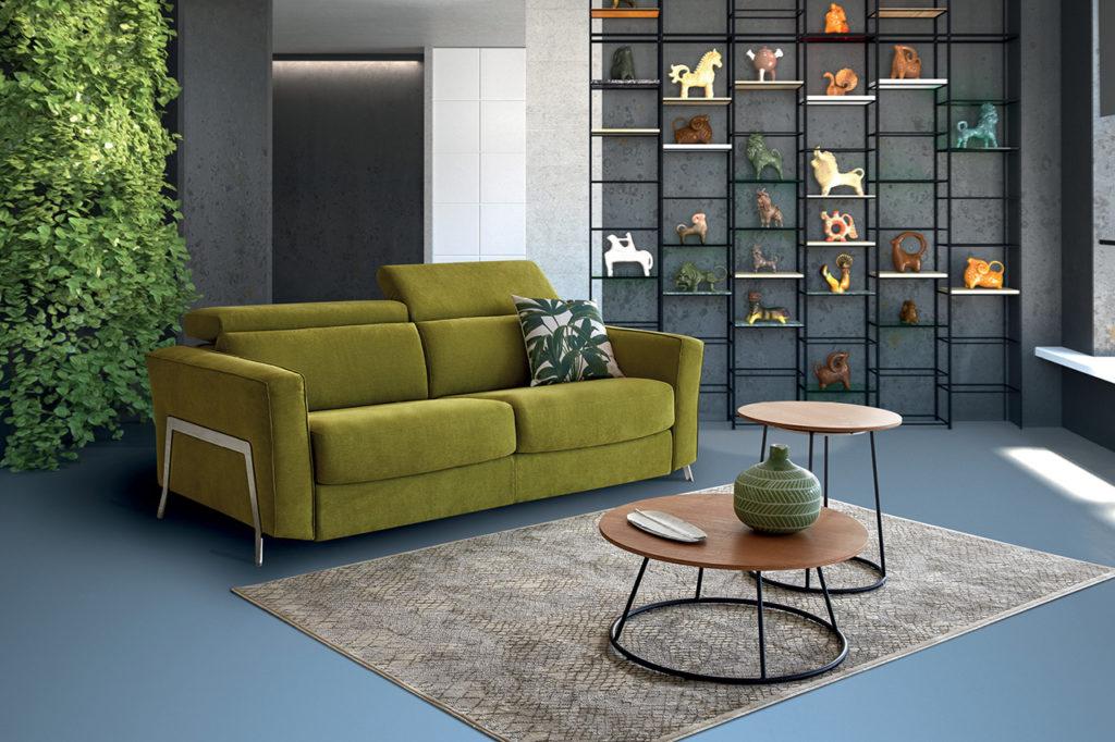 Canapé vert modèle Kiwi HomeSalons