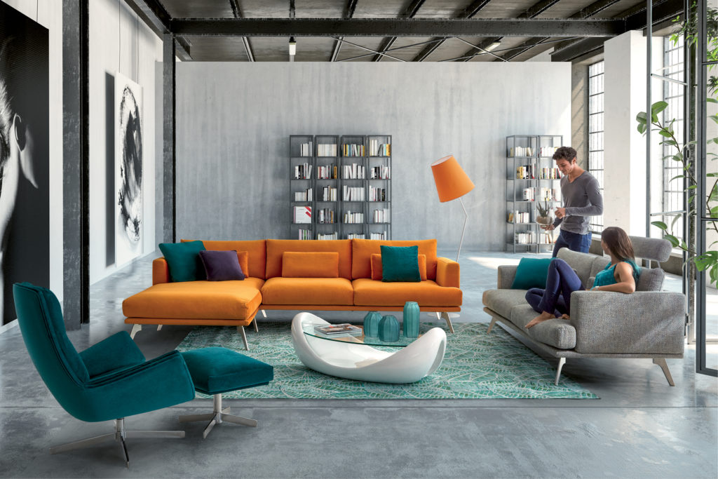 Couleur de canapé Orange modèle Riviera de HomeSalons