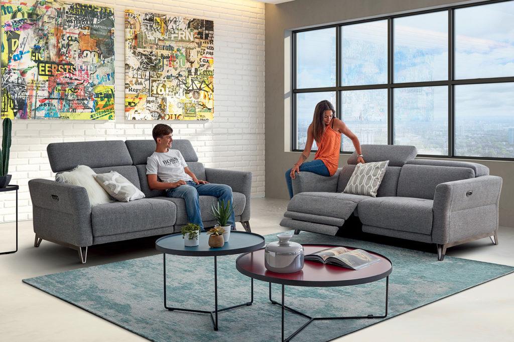 Canapé relax en tissu Pop - HomeSalons