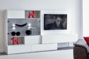 Décoration du salon avec le meuble composable Eden Roc