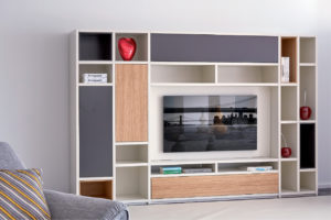 Salon décoré avec le meuble composable Regency d'HomeSalons