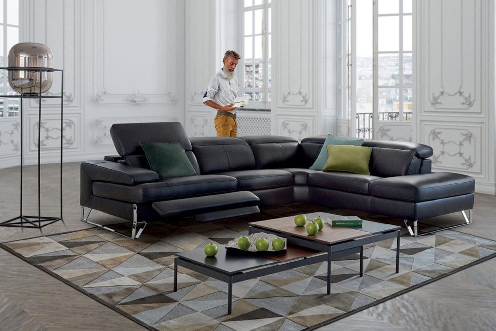 Canapé en cuir Avant-Garde Nouvelle Collection HomeSalons