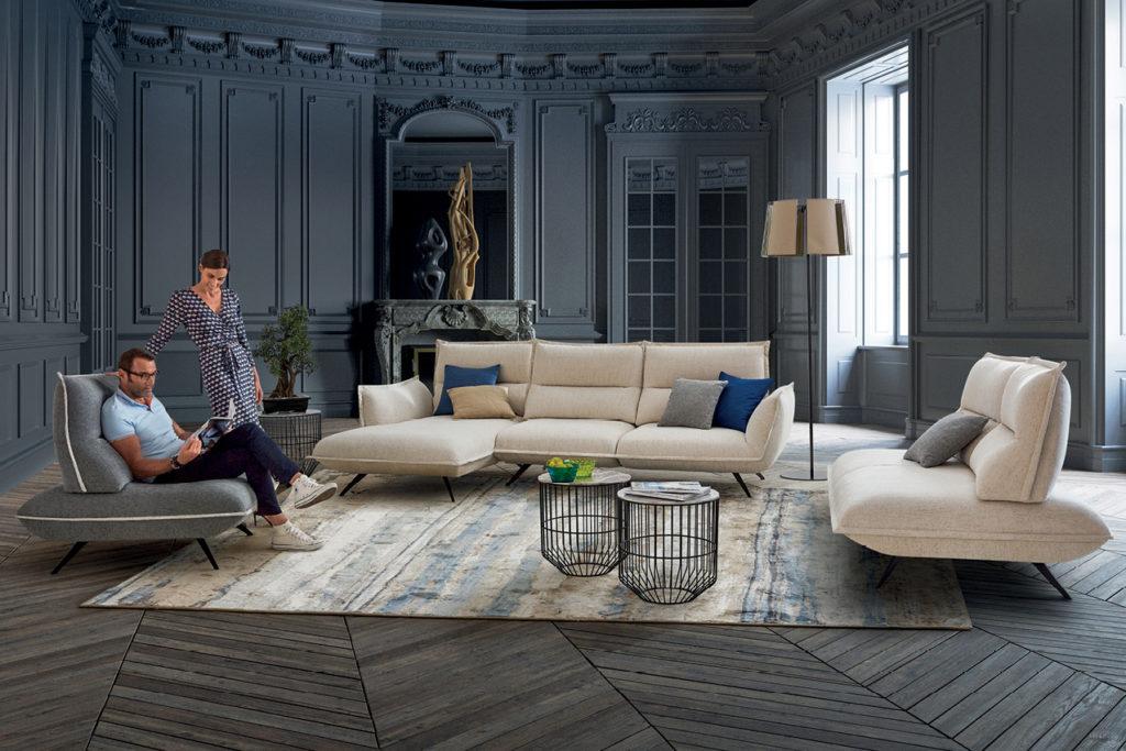 Canapé en tissu Odysée Nouvelle Collection HomeSalons