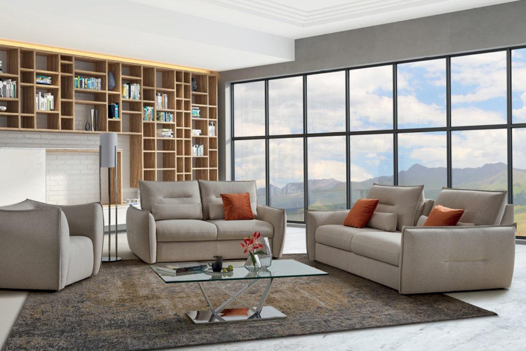 Canapé en tissu Sable Nouvelle Collection HomeSalons