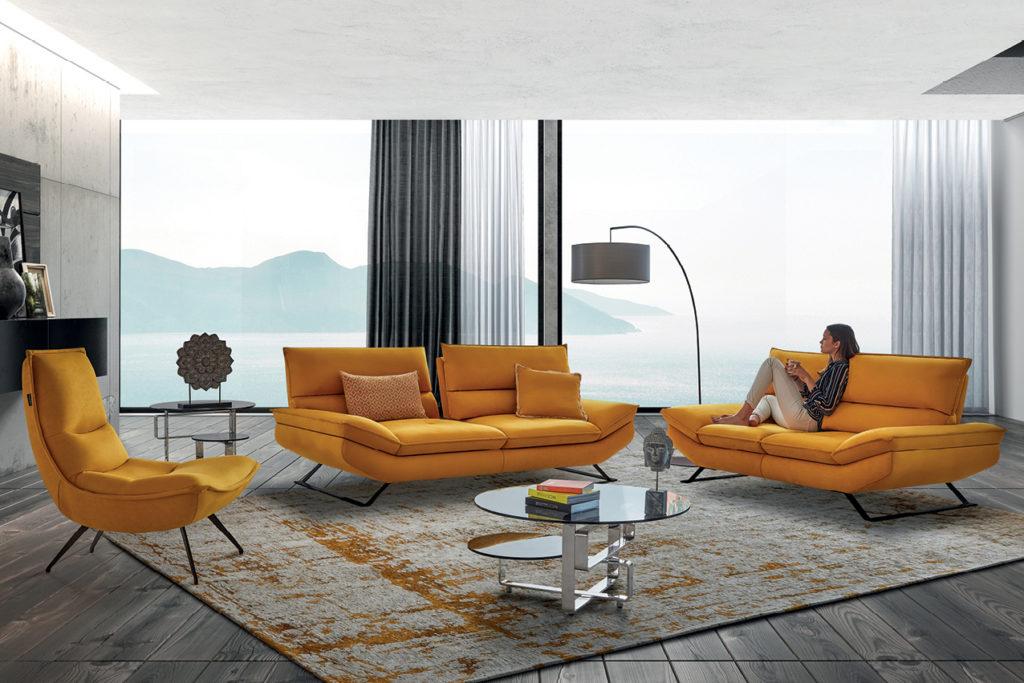 Canapé en tissu Trinidad Nouvelle Collection HomeSalons