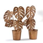 Plantes déco dorées